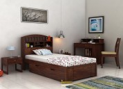Big sale! purchase wooden single beds in mumbai @