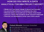 How do you write a data analytical for mba project