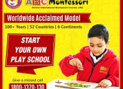 Abc montessori : best play school franchise in ind