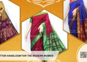 Buy cotton handloom saree online
