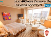 Flat 40% off premium rooms at premium locations