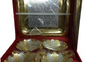 Brass silver and gold plated 4 bowl set, rs 750 /b
