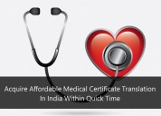 Acquire affordable medical certificate translation