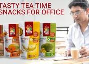 Tasty tea time snacks for office