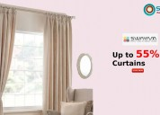 Up to 55% off curtains