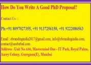 How do you write a good phd proposal?