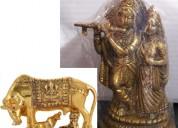 Combo 2 statue god radha krishna and cow - calf i