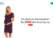 Free maternity wardrobe worth rs.3000 with email s