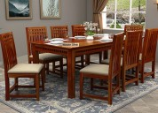 Wooden dining table set in bangalore