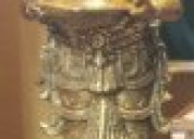 Brass standing diya laxmi  for decor at rs 39000