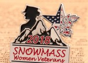 Custom enamel pins | snowmass women veterans custo