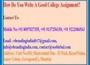 How do you write a good college assignment?