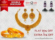 Jewellery at discount of 20% & additional 15%