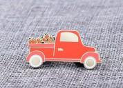 Red minivan hard enamel pins