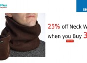 25% off neck warmer when you buy 3