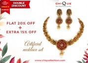 Necklaces at a flat 20% off and an additional 15%