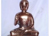 Black metal idol of lord gautama buddha statue