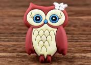 Charming owl custom pvc magnet