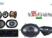 Flat 50% off car audio products