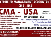 Certified management accountant (cma) by 3d educat