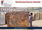 Exporter of rain forest brown marble manufacturer