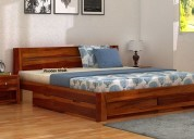 Choose the latest double cot online @ woodenstreet