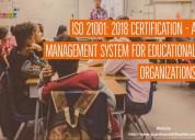 Iso 21001:2018 certification in mumbai