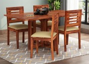 Enhance the aura with 4 seater dining table sets