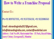 How to write a franchise proposal