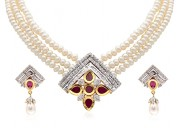 Get the latest pearl necklace set at 20% off