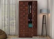 See latest wooden almirah design @ woodenstreet