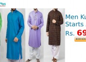 Men kurtas starts at rs. 690