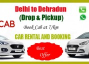 Taxi from delhi to dehradun