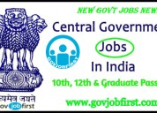 Government jobs notification govjobfirst