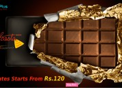 Chocolates starts from rs.120 at food feasta