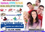 Part time home based offline online data entry job