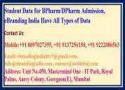 Student data for bpharm/dpharm admission
