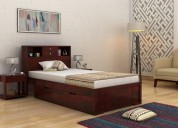 Explore the beautiful wooden king size beds online