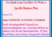 For bank loan you have to write a specific busines