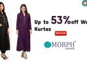 Up to 53% off womens kurtas