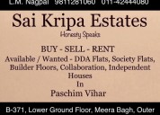 Real estate services in paschim vihar
