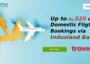 Up to rs.525 off domestic flight bookings via indu