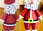 Quilling santa claus for gift your child on christ