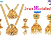 Save up to 80% on traditional jewelry