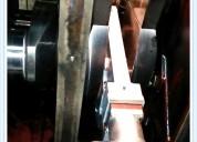 Polishing of crankshafts or crankshaft polishing