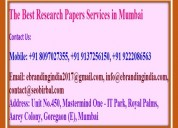 The best research papers services in mumbai