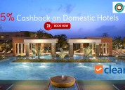 Cleartrip coupons, deals & offers: get 5% cashback
