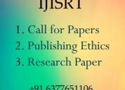 Famous journals for research publish- ijisrt