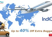 Up to 40% off extra baggage at indigo