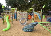 Outdoor gym and playground equipment for fitness
